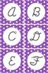 Editable Classroom Decor Package Purple Polka Dot