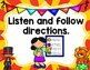 Classroom Rules- Circus Theme