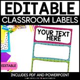 Bulletin Board Headers - Pink, Blue and Green Polkadots {E