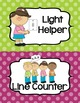 "Job Chart ""Classroom Helpers"" - Editable! - Cute Polka Dots"