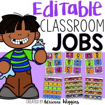 Editable Classroom Jobs Display