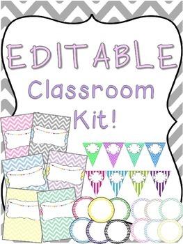 Editable Classroom Kit!