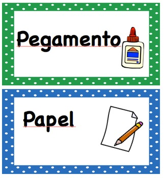 Editable Classroom Labels - English and Spanish