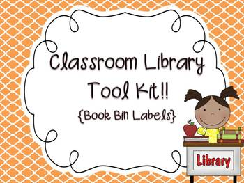 {Editable} Classroom Library Book Bin Labels