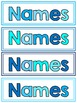 Editable Classroom Organization Labels: Blue & White