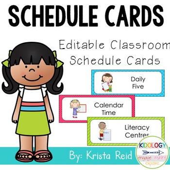 Classroom Schedule - Editable