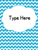 Editable Classroom Theme / Decor / Organization Bundle - Sky Blue