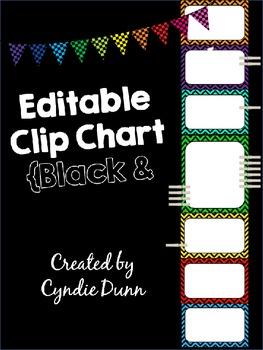 Editable Clip Chart Behavior Management System - Chevron