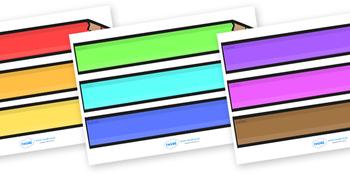 Editable Colored Pencil Labels