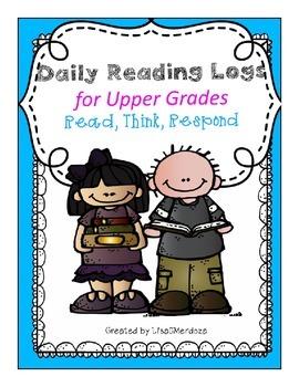 Reading Response Logs for Upper Grades-Editable