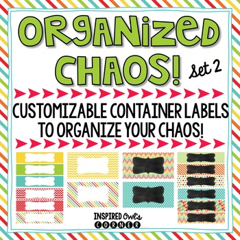 Editable Container Labels {Primary Brights Set 2}