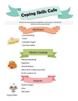 Editable Coping Skills Cafe