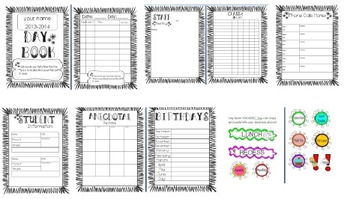 Editable DAY BOOK/PLANNER!