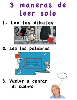 Editable Daily 5 Posters in Spanish - Read alone and with
