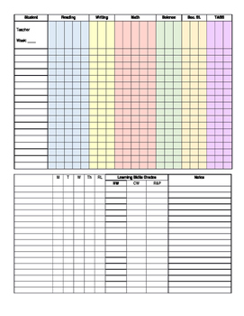 Editable: Data Collection One Sheeter