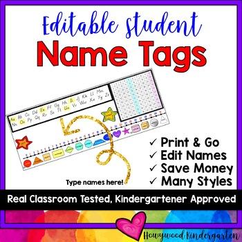 Desk Name Plates!  ABCs, number line, hundreds chart, shapes!