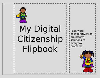 Intermediate and Middle School Editable Digital Citizenshi