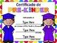 Editable Diplomas- Spanish
