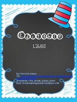 {Editable} Classroom Labels
