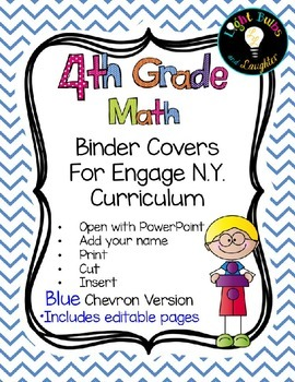 Editable FOURTH Grade Math Engage New York Binder Covers -