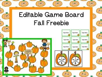 Editable Fall Game -Freebie