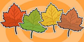 Editable Fall Leaves