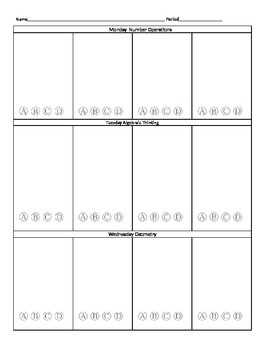 Editable Flashback/Bellringer-Assessment Practice