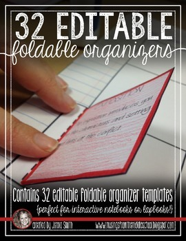 Editable Foldable Organizer Templates for Interactive Stud