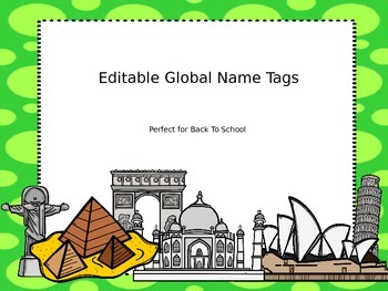 Editable Global Name tags and Numbers