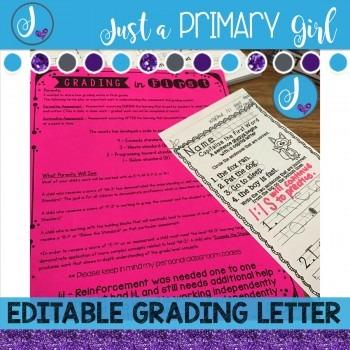 Editable Grading Letter