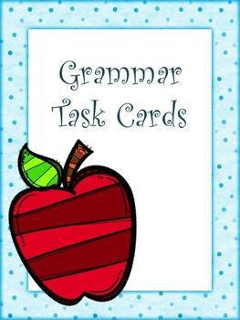 Editable Grammar Task Cards