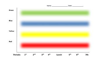 Editable Graph RYGB Chart for Self Regulation and Behavior