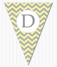 Grey and Yellow Editable Bunting Welcome, ABC, 123, Banner