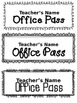Editable Hall & Office Passes FREE