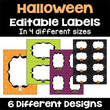 Halloween Labels (Editable)