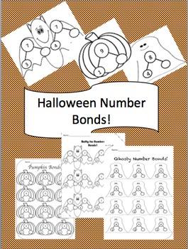 Editable Halloween Theme Number Bonds