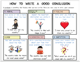 Editable Handout/Poster: How to Write a Good Conclusion