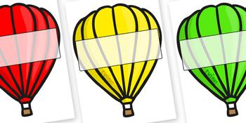 Editable Hot Air Balloons (Plain)