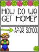 Editable:  How do we get home?  Dismissal Organization Cards