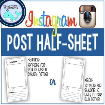 Editable Instagram Post Template