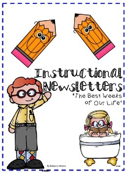 Editable Instructional Newsletter for the Year Growing Bundle