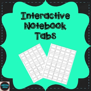 Editable Interactive Notebook Tabs
