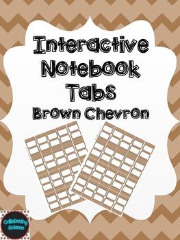 Editable Interactive Notebook Tabs -- Brown Chevron