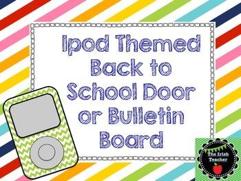 Back to School Bulletin Board Editable Classic Ipod Themed