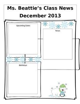 Editable January Newsletter