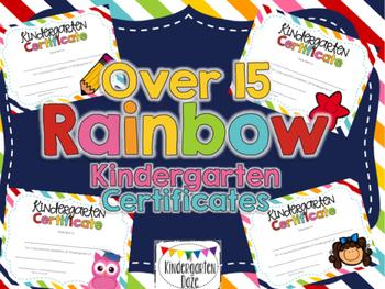 Editable Kindergarten Graduation Certificates
