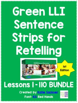 Sentence Strips for Retelling BUNDLE Green Leveled Literac