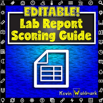 Editable Lab Report Scoring Guide Rubric