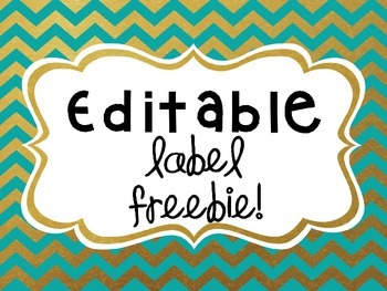 Editable Label FREEBIE!