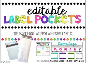 Editable Label Pockets (For Target Adhesive Label Pockets)